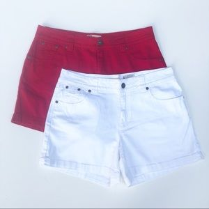 Faded Glory Stretch Shorts Bundle Size 8